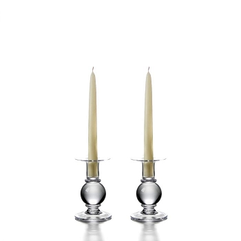 Simon Pearce Small Hartland Candlestick set/2