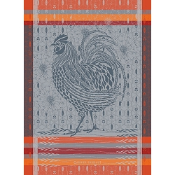 Coq Design Orange Kitchen Towel- 100% Cotton