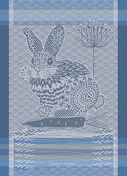 Lapin Design Blue Kitchen Towel 22