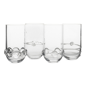 Juliska Heritage Collectors Set/4 Large Highballs -Gift Boxed