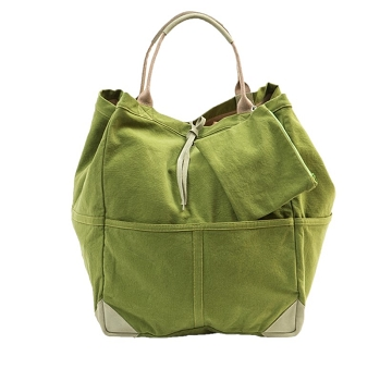 Large Tote Bag- Cotton/Suede - 2 Colors