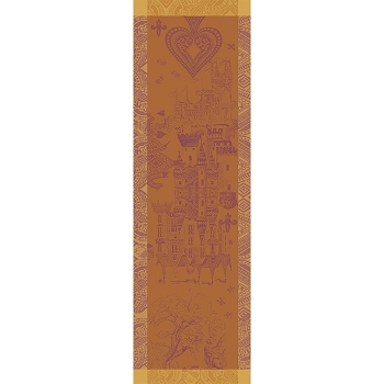 Chateau de Cartes Ocre Table Runner,  Green Sweet _NEW RETIRED