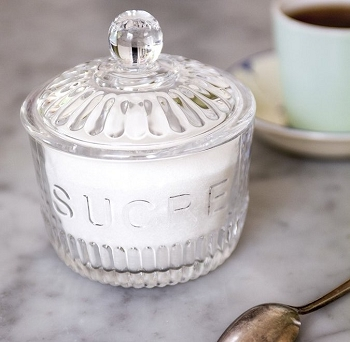 Depression Glass Sugar Jar