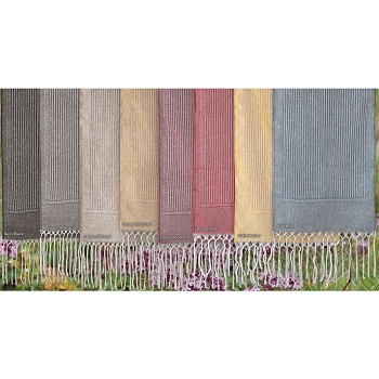 Iris Purolino Double Runner/Scarf  with Fringe, 100% Linen