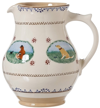 Large Jug Animal Landscape