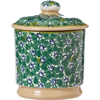 Green Lawn Lidded Sugar Pot