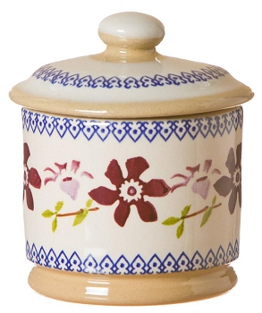 Clematis Lidded Sugar Pot
