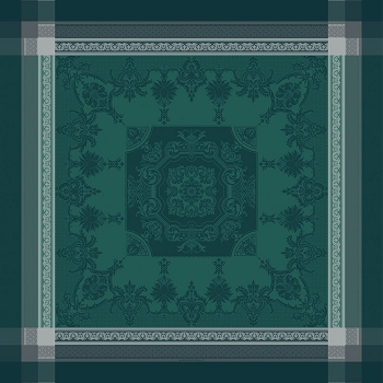 Fontainebleau  Vert Profond Tablecloth , 100% Cotton, Green Sweet