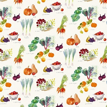 Mille Jardin Potager Autumn Tablecloth, Linen and Cotton