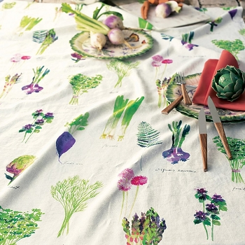 Mille Potager Printemps Table Runner