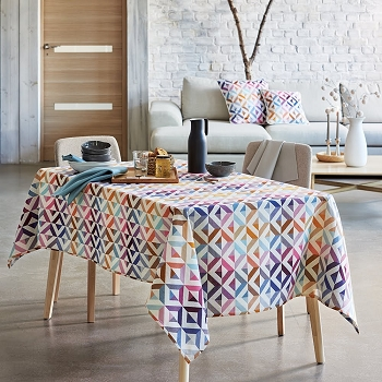 Mille Twist Warm Tablecloth , 100% Cotton & Coated Cotton
