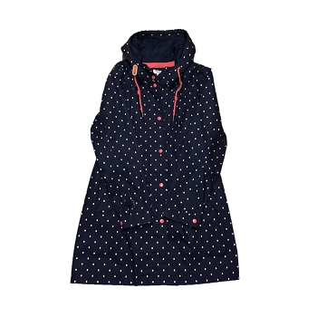 Navy Spot Raincoat