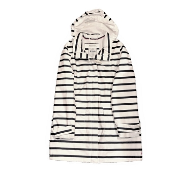 Joules Navy Striped Raincoat