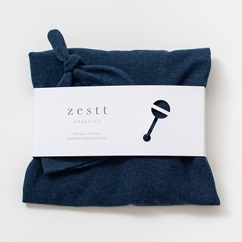 Organic Newborn Dream Bundle (Blanket and Hat) -Navy