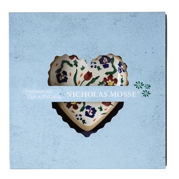 Boxed Set Tiny Heart Plate Wildflower Meadow