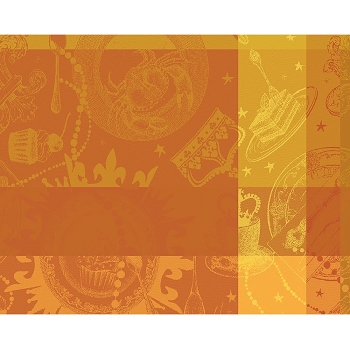 Mille Banquets Ocre Placemat Set/4 , Coated or Uncoated
