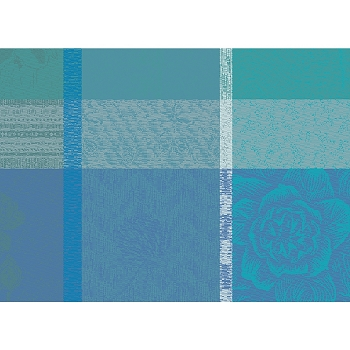 Mille Gardenias Lagon Placemat Set/4, Coated or Non Coated
