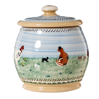 Landscape Small Rounded Lidded Jar