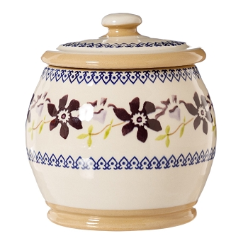 Clematis Small Rounded Lidded Jar