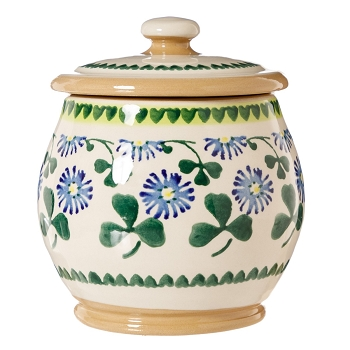 Clover Small Rounded Lidded Jar