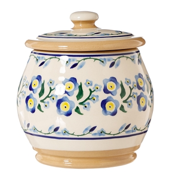 Forget me Not Small Rounded Lidded Jar