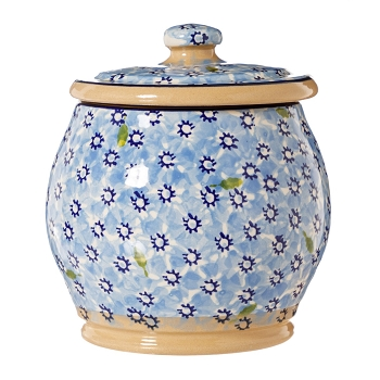 Lawn Light Blue Small Rounded Lidded Jar