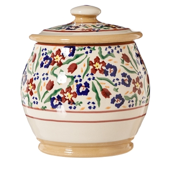 Wild Flower Meadow Small Rounded Lidded Jar