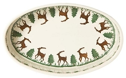 Reindeer Small Oval Oven Baking Dish