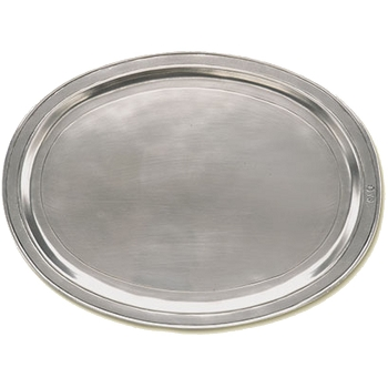 Pewter Oval Incised Tray - 4 sizes