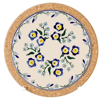Forget me Not Small Round Trivet