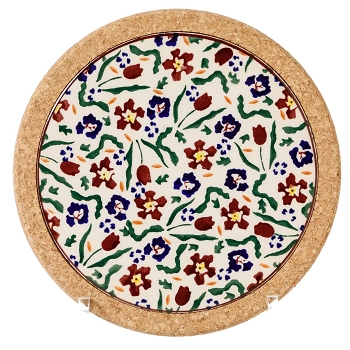 Wild Flower Meadow Small Round Trivet