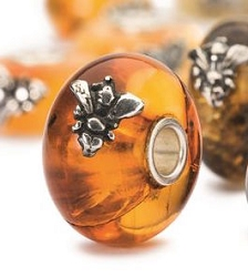 Wings of Amber Bead-1 Bee