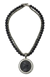 Double Strand Onyx Necklace