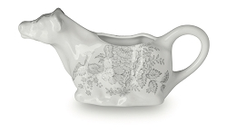 Dove Grey Asiatic Pheasant Cow Creamer BOXED