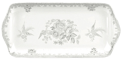 Dove Grey Asiatic Pheasant Rectangular Tray - Special Order