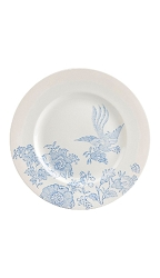 Blue Asiatic Pheasant Accent Dinner Plate 10