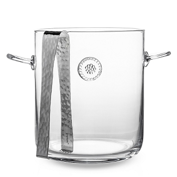 Berry and Thread Ice Bucket with Tong