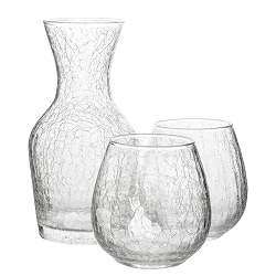 Hugo Wine Carafe + 2 Stemless Red Wine