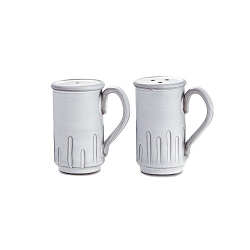 Bella Bianca Tall Salt and Pepper Shakers