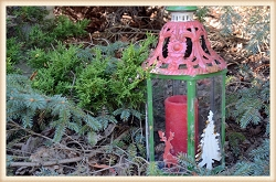 Holiday Metal Filigree Lantern