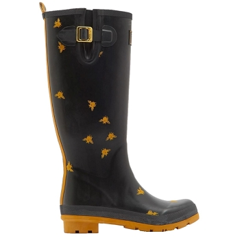 Black Bee Tall Wellies
