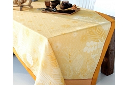 Borneo Ambre Tablecloth 100% Cotton, Green Sweet