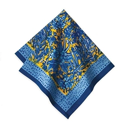 Bougainvillea Napkins Yellow & Blue,Set of 6