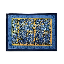 Bougainvillea Placemats Yellow & Blue, Set of 6