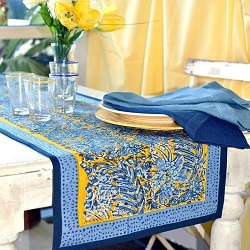 Bougainvillea Runner Yellow & Blue