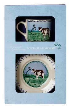 Cow Boxed Set Cup and Plate