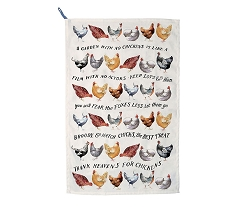Year in the Country Hens Tea Towel