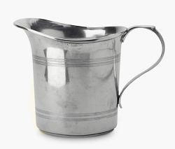 Straight Pewter Pitcher