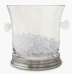 Crystal Ice Bucket w/Handles