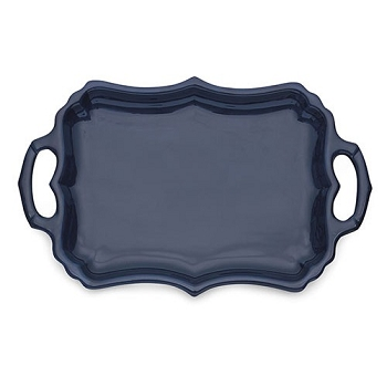 Burano Blue Tray with Handles